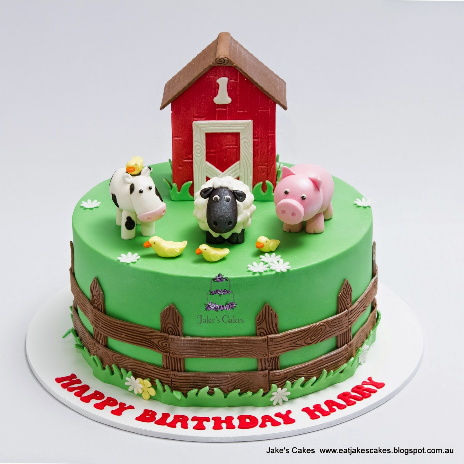 Jake S Cakes Farm First Birthday Cake