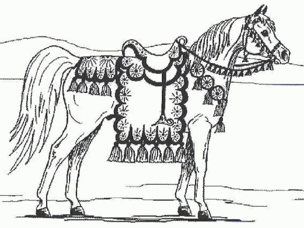 Free Horse Coloring Pages Image