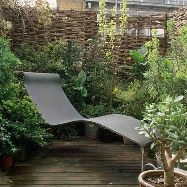 A Deckchair In A Small Garden