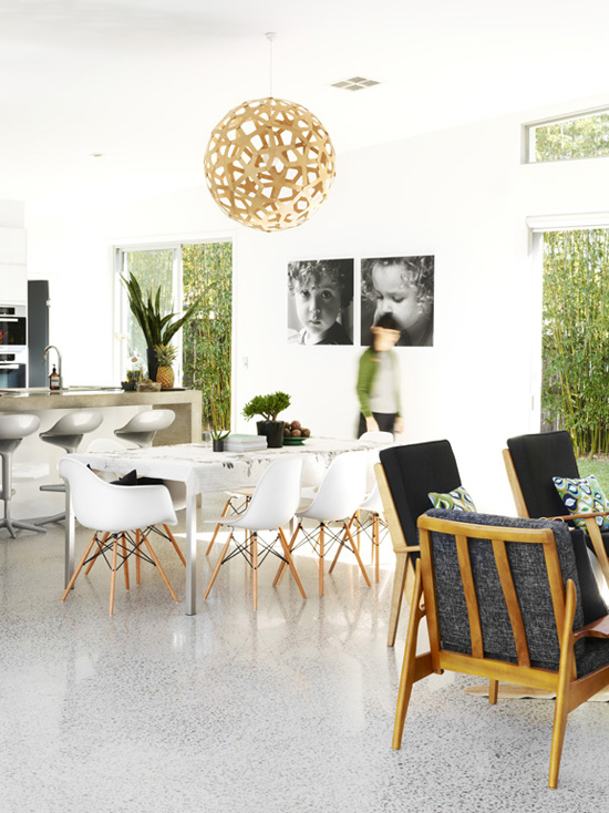 Interiors with a green view | Sunrise Beach House for Real Living Magazine, styling Kylie Jackes, photo by Toby Scott
