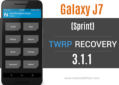 TWRP Recovery for Galaxy J7 Sprint