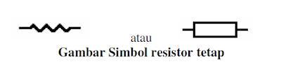 simbol resistor tetap (fixed resistor)