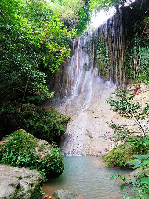 Air Terjun di Kawasan Goa Selarong