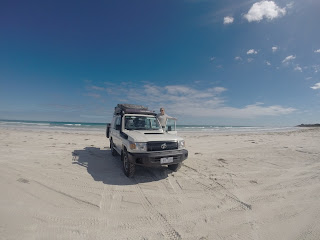 4WD Camper on the Beach