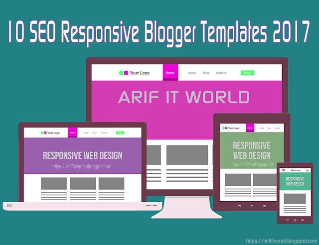 SEO Responsive Blogger Templates 2017