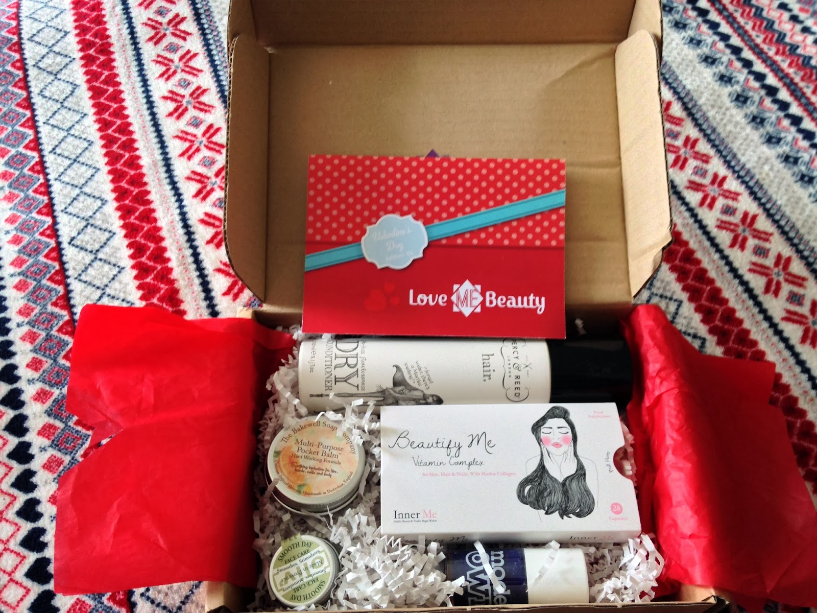 Love me beauty box contents February 2014