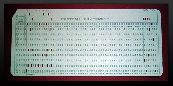 Punch card : Intelligent computing