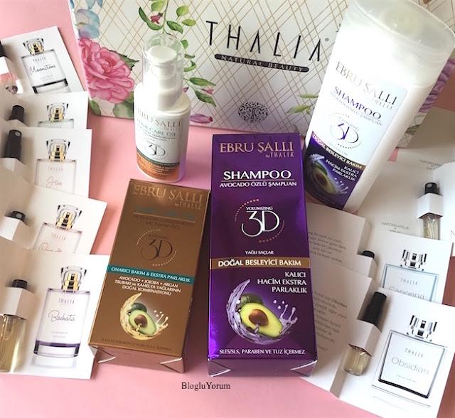 thalia natural beauty ebru şallı by thalia yağlı saçlar için avokado özlü şampuan ebru şallı by thalia durulama gerektirmeyen saç bakım yağı ve parfümler