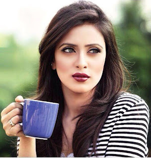 Bidya Sinha Saha Mim Cute With Coffee