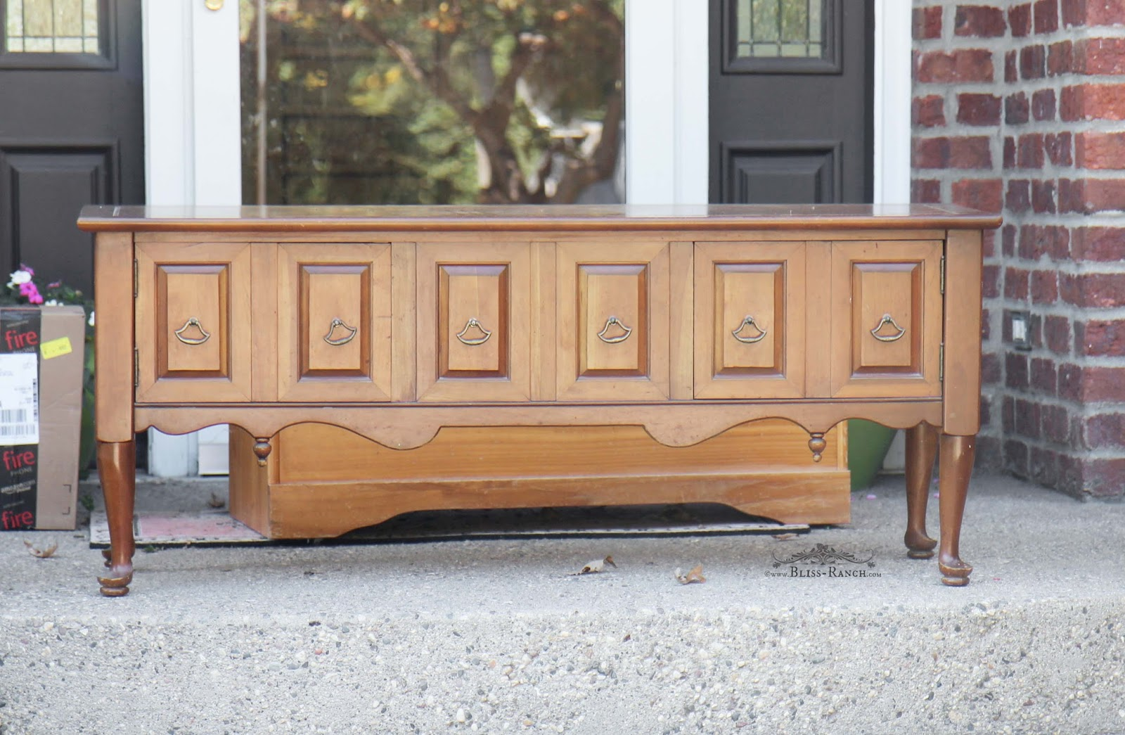 Upcycled Entertainment Center Before Bliss-Ranch.com