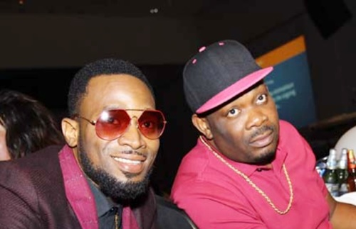 #BenBruceAt60: How Don Jazzy Embarrassed D'banj On Stage at Ben-Bruce's Birthday Bash (Photos)