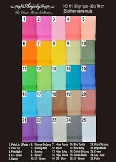 pilihan warna handuk merk anjoly