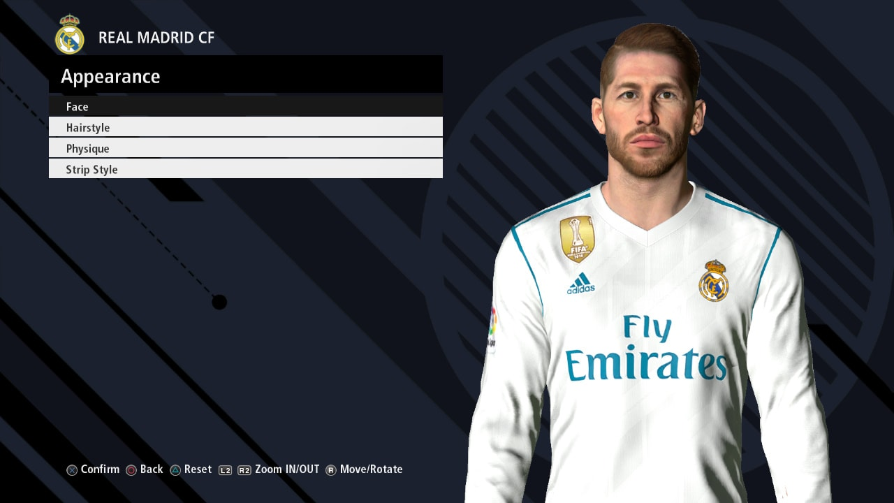 PES 2017 S. RAMOS Face V3 by Ahmed Tattoo & Facemaker