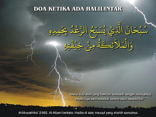 Download Doa Saat Mendengar Halilintar Atau Petir Mp3