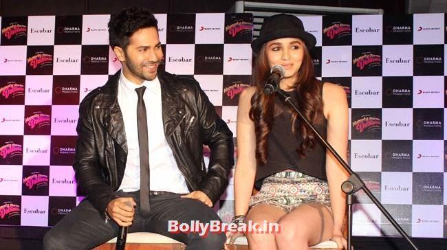 Varun Dhawan and Alia Bhatt, Alia Bhatt Pics with Cap & in Short Skirt