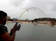 Mancing Ikan Kerapu Tiger Besar Di Kolam