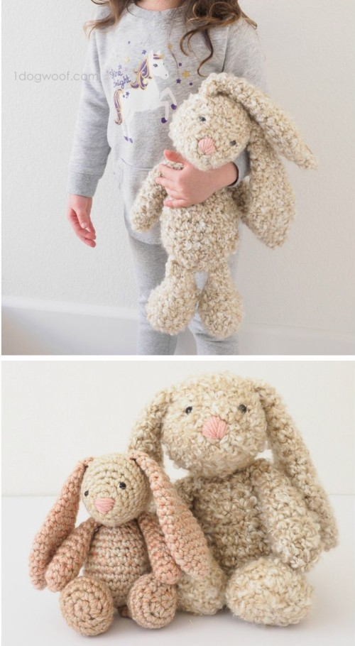 Classic Stuffed Bunny - Crochet Pattern