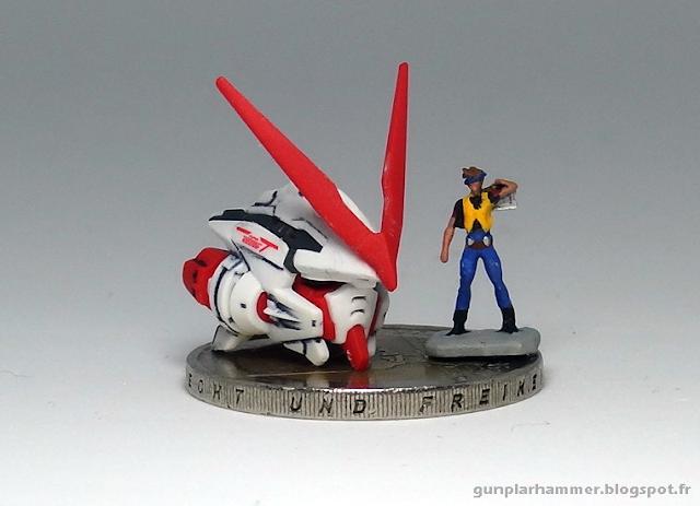 RG Astray Red Frame Gundam Head + Lowe Guele 1/144
