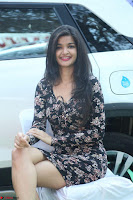 Kritika Telugu cinema Model in Short Flower Print Dress 044.JPG