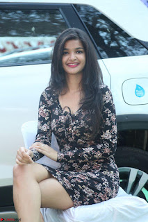Kritika Telugu cinema Model in Short Flower Print Dress 044.JPG
