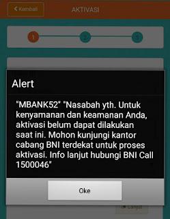cara mengatasi error mBank50 mBank51 mBank52 error bni, bni mobile banking tidak bisa aktivasi, aktivasi mobile banking bni gagal terus, kode otp bni tidak terkirim,  aktivasi bni mobile banking gagal mengirim sms, solusi mbank52,