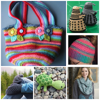 diy tutorial knitting crochet bag beanie plushie scarf mittens dalek