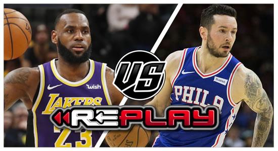 Video Playlist: LA Lakers vs Philadelphia 76ers Game Replay 2018-2019 NBA Season