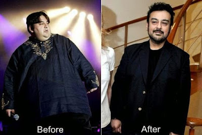 Adnan Sami before and after weight loss