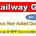 GK Important Questions for Railway Group D SSC Exams