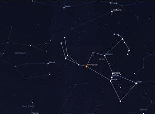 rasi bintang orion menunjukkan arah barat