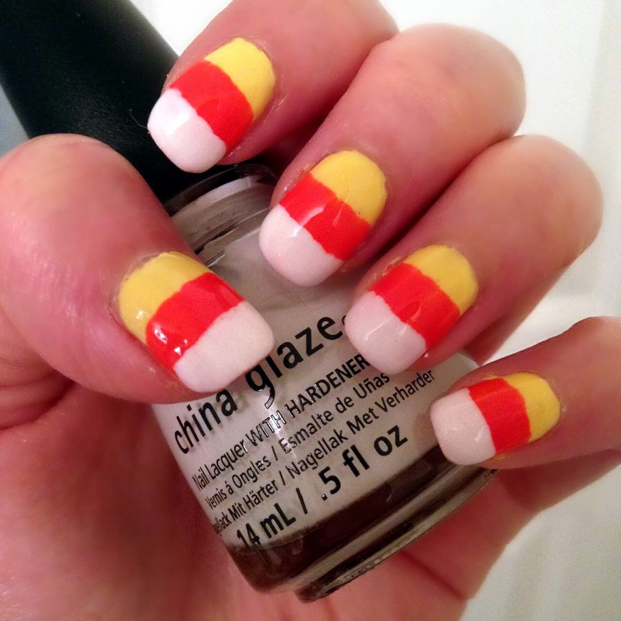 erisaxo: Halloween nails: Candy corn mani