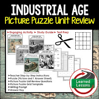 American History Picture Puzzles are great for TEST PREP, UNIT REVIEWS, TEST REVIEWS, and STUDY GUIDES, Industrial Age