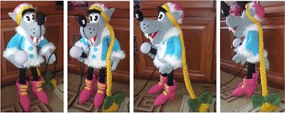 Волк-снегурочка из мультфильма Ну, погоди