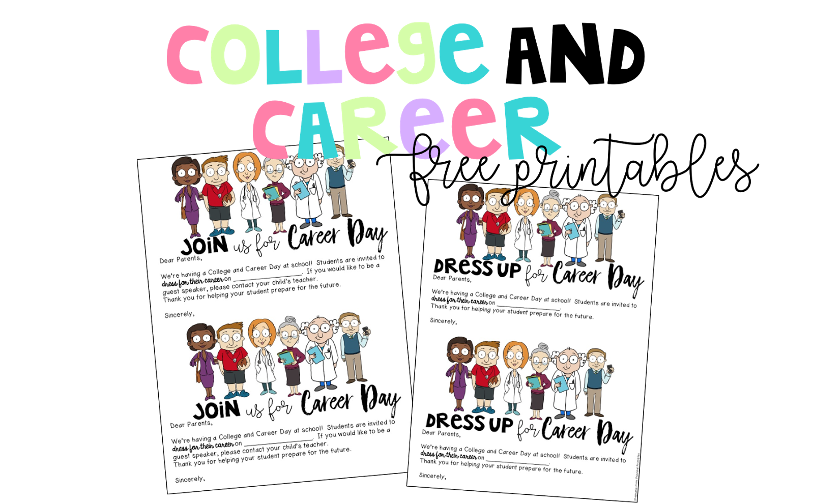 college and career day for elementary students free printables principal principles. Black Bedroom Furniture Sets. Home Design Ideas