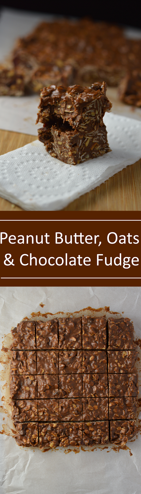 Peanut Butter, Chocolate and Oats Fudge Recipe