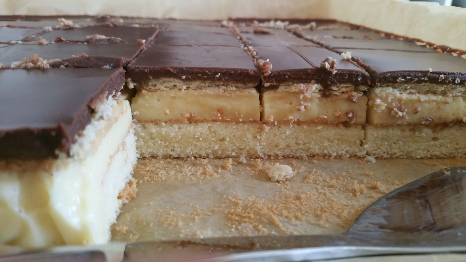 Backen Kochen Geniessen Schoko Pudding Kuchen Vom Blech