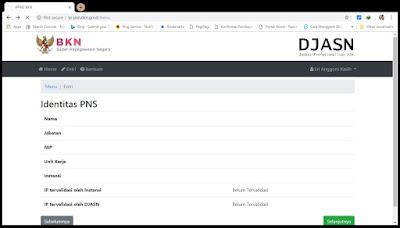 Identitas PNS pada IP ASN
