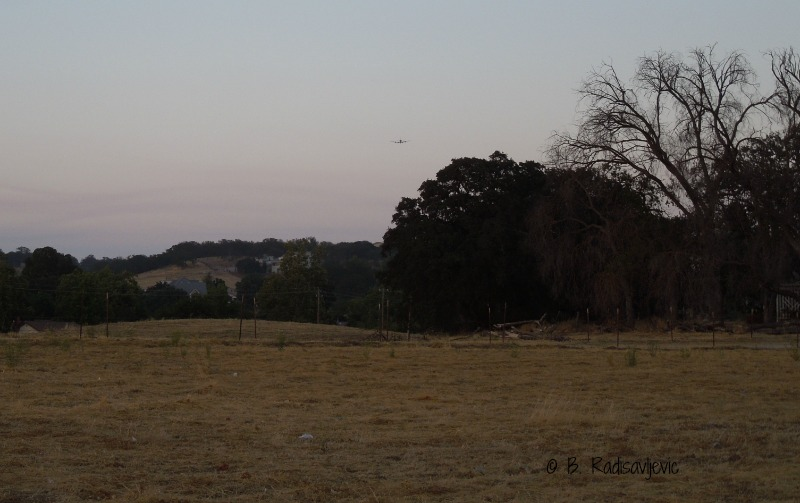 Photos from a Paso Robles Parking Lot at Dusk