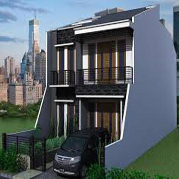 model rumah 2 lantai tampak depan