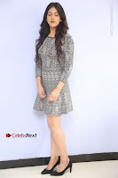 Actress Chandini Chowdary Pos in Short Dress at Howrah Bridge Movie Press Meet  0020.JPG