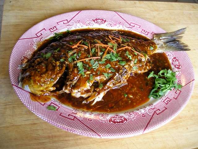 Traditional Chinese Recipes: Whole Fish with Chili Sauce ...
