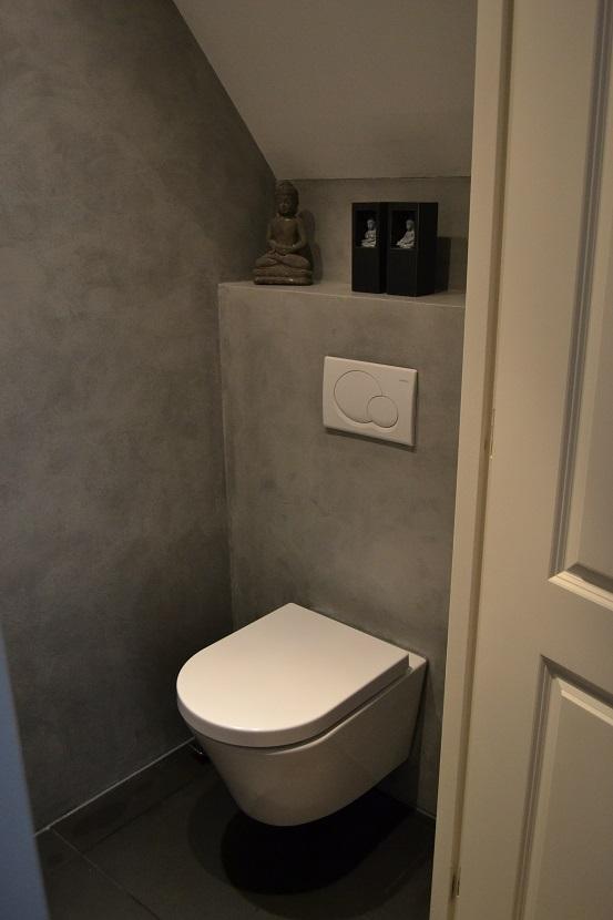 Landelijk at home betonlook - Kleur muur wc ...