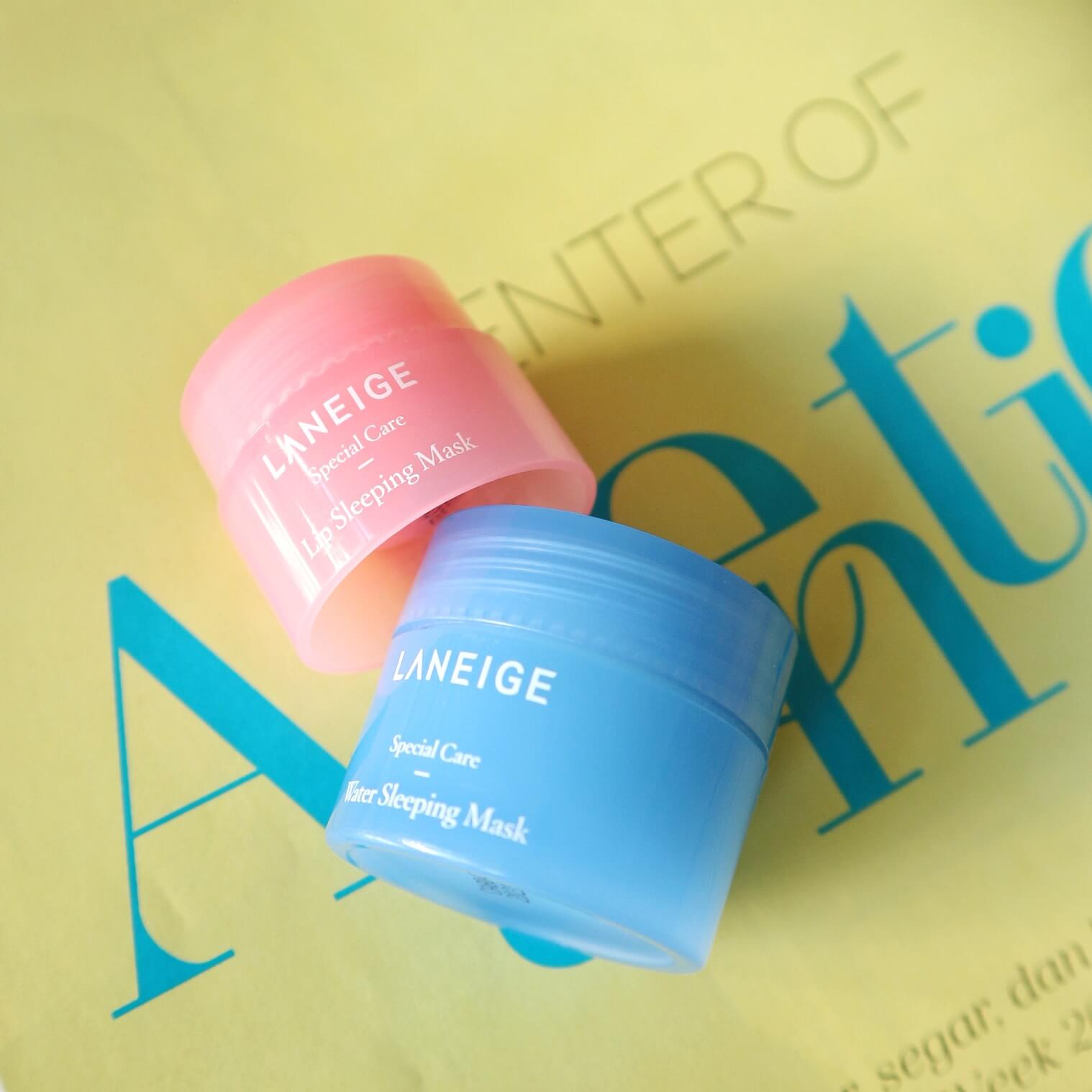 Laneige Water Sleeping Mask and Lip Care