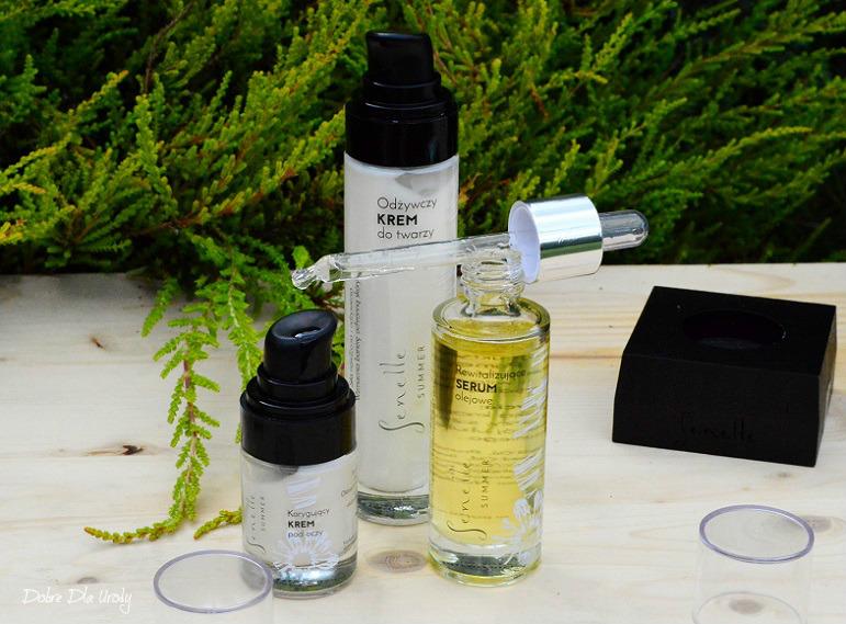 Senelle Odżywczy Krem do twarzy, Rewitalizujące Serum olejowe oraz Korygujący Krem pod oczy - pielęgnacja w zgodzie z naturą