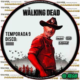 GALLETA PERSONALIZABLE THE WALKING DEAD TEMPORADA 9 - 2018 [COVER DVD]