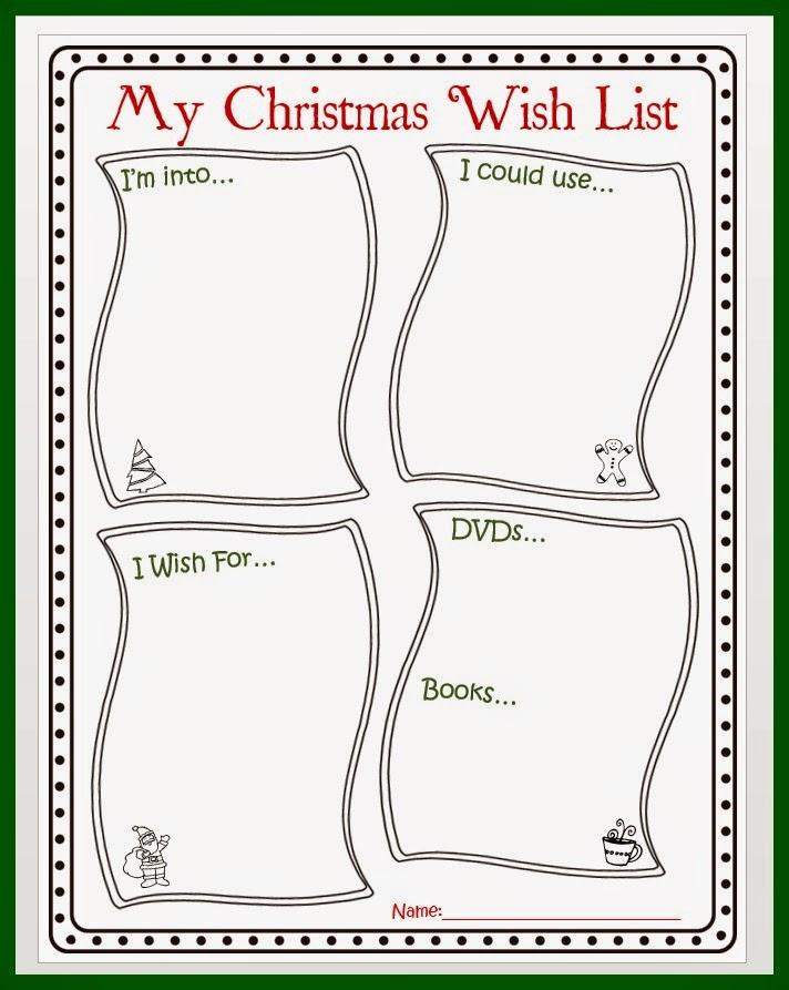Christmas Wishlist Printable Mehaffey Moments