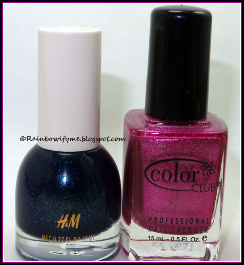 H & M ~ Nocturne and Color Club ~ Hot like lava