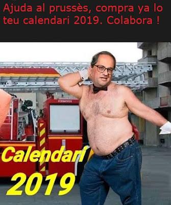 Ayuda al proceso, compra ya tu calendario 2019, Quim Torra