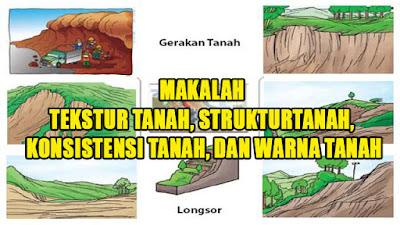 MAKALAH GEOGRAFIS TANAH, TEKSTUR, TEKSTURE, LAPISAN TANAH