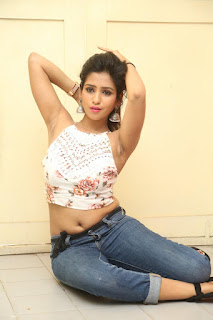 Deekshita Parvathi in a short crop top and Denim Jeans Spicy Pics Beautiful Actress Deekshita Parvathi January 2017 CelebxNext (186).JPG